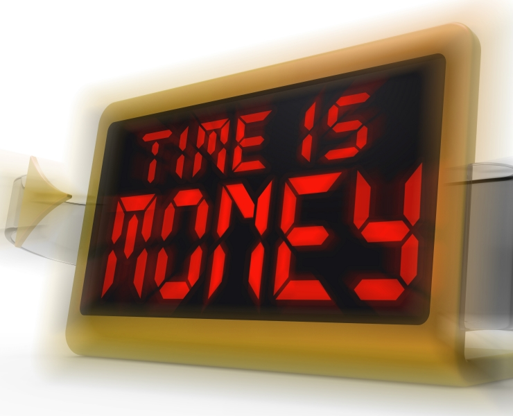 time is money text